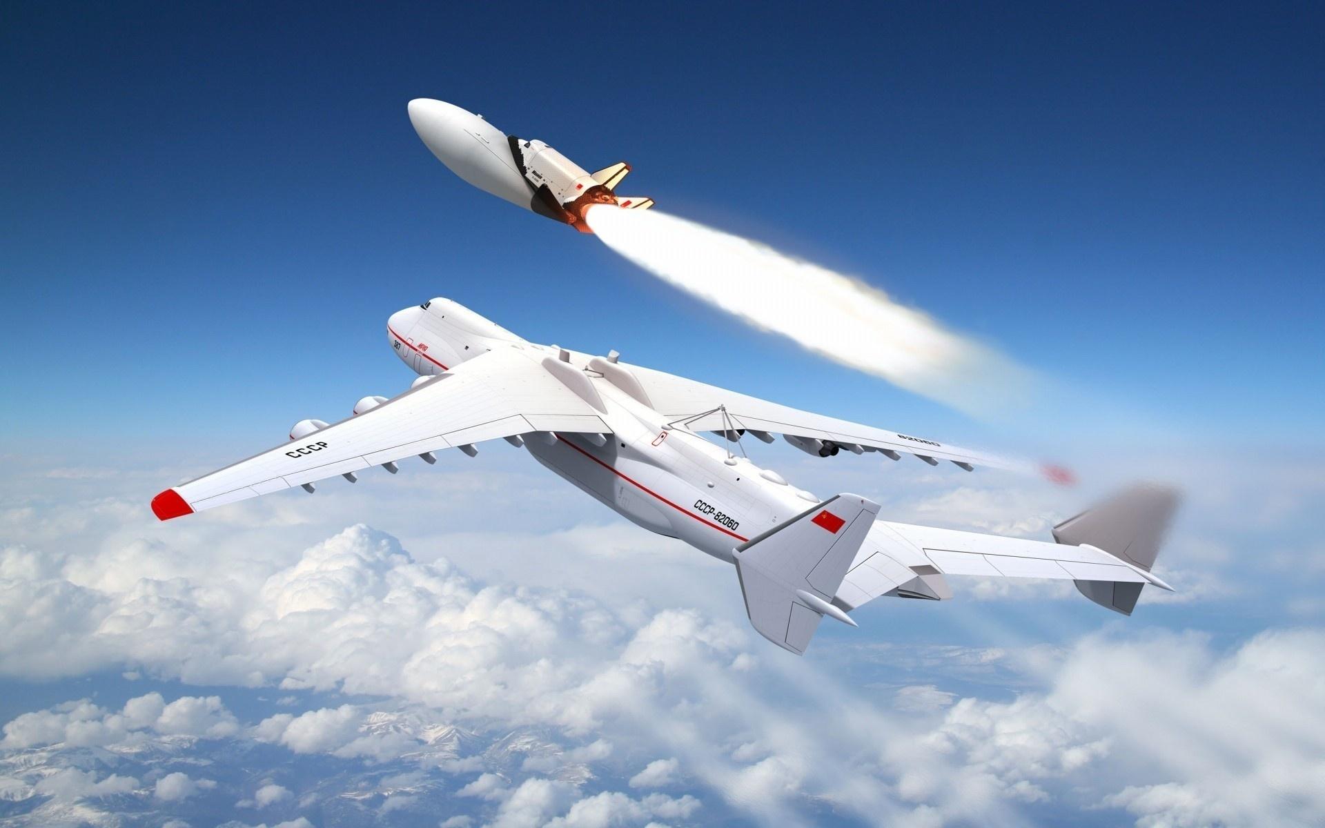 Ан-225 Мрия Запуск космического корабля