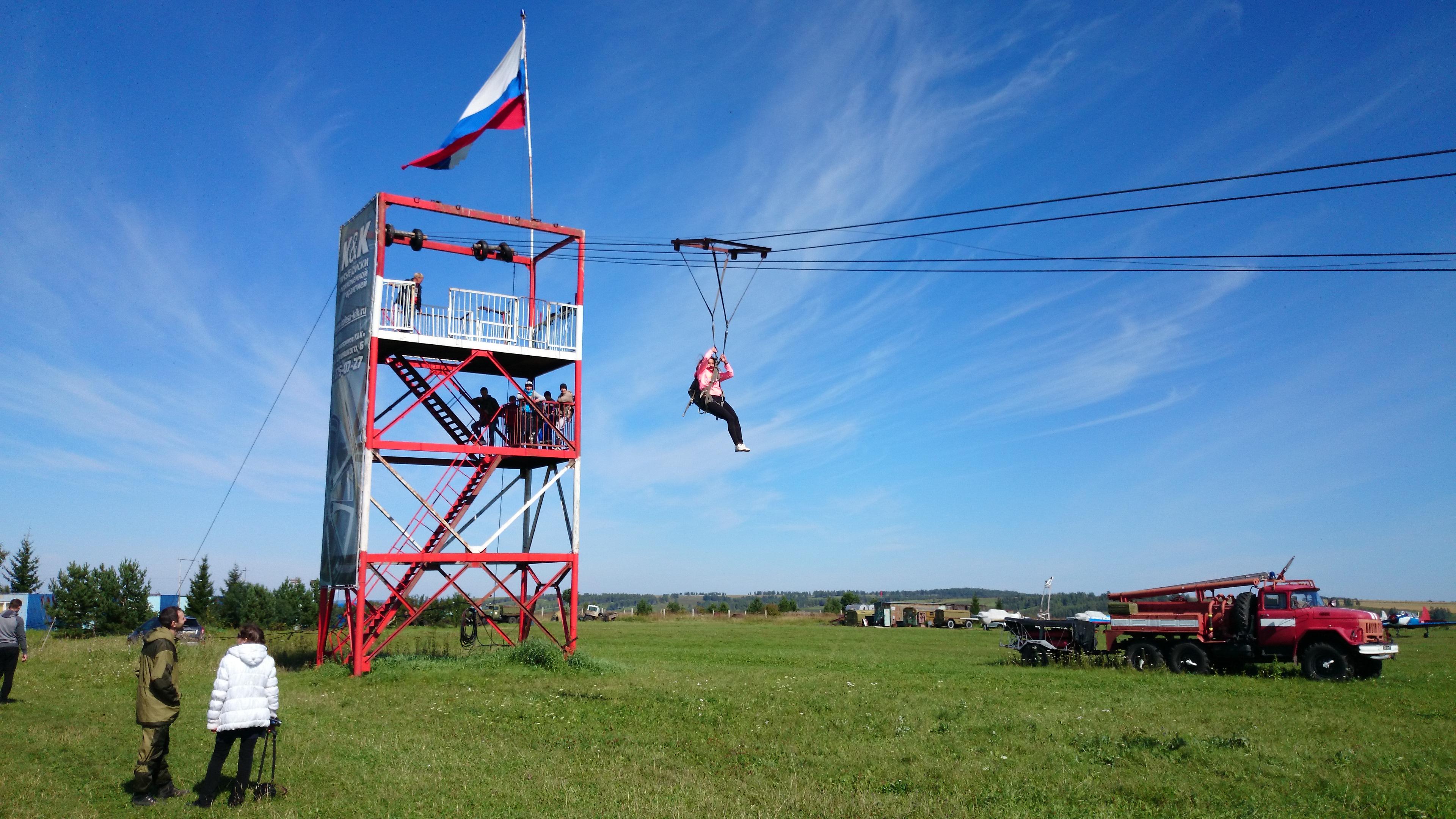 Красноярск Аэродром ДОСААФ Манский Вышка для обучения парашютистов