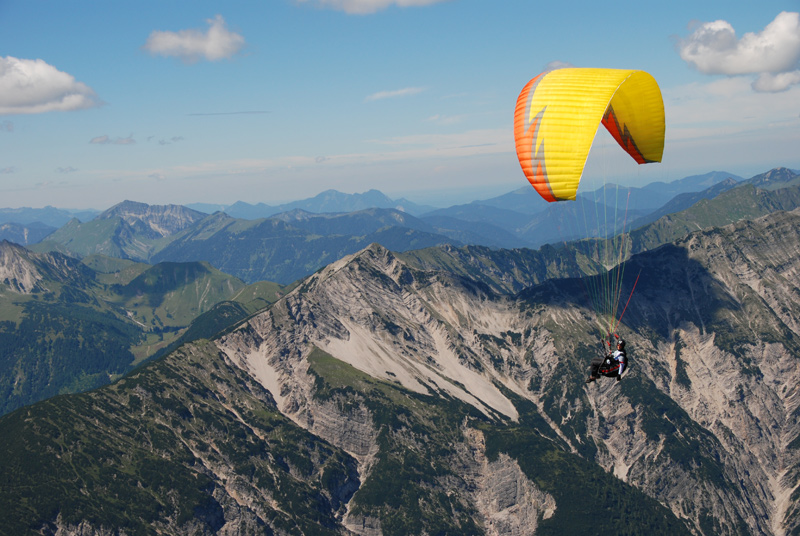 Параплан без мотора Полёт над горами