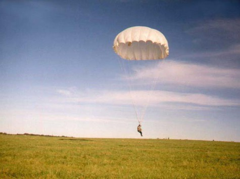 Приземление на парашюте Д-6