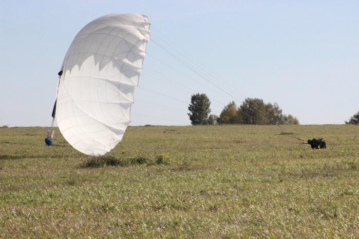 Прыжки с парашютом Парашют Д-6 Приземление