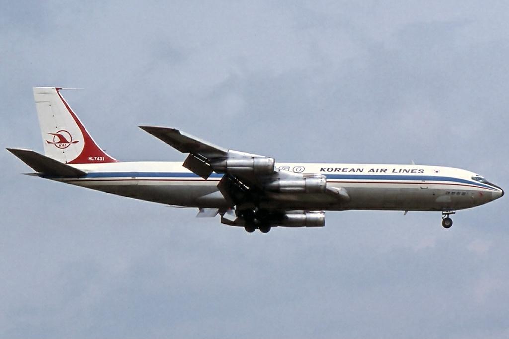 Боинг 707 Корейские авиалинии 1978г