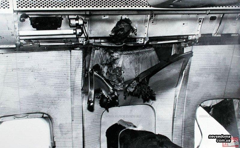 Боинг в Карелии Разрушения внутри салона после попадания ракеты