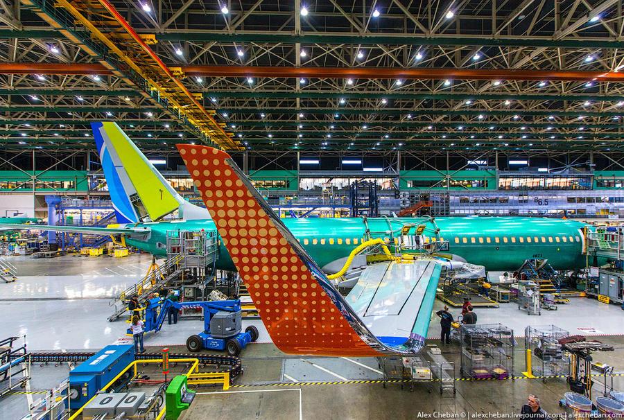 Завод Боинг Сборка Боинга-737