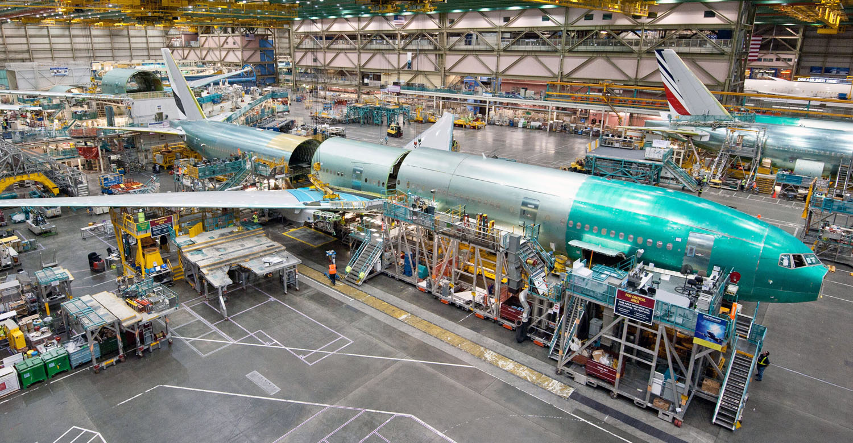 Завод Боинг Сборка Боинга-777