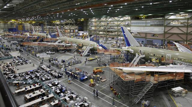 Завод Боинг Сборочная линия Боинга-777