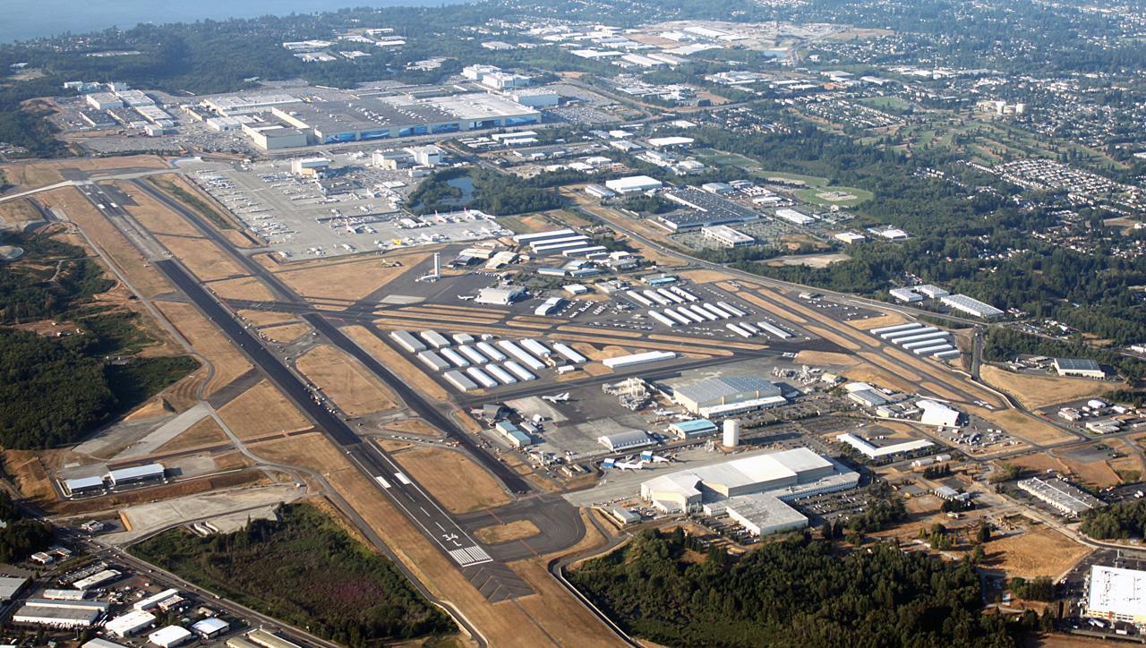Завод Боинг с аэродромом и инфраструктурой