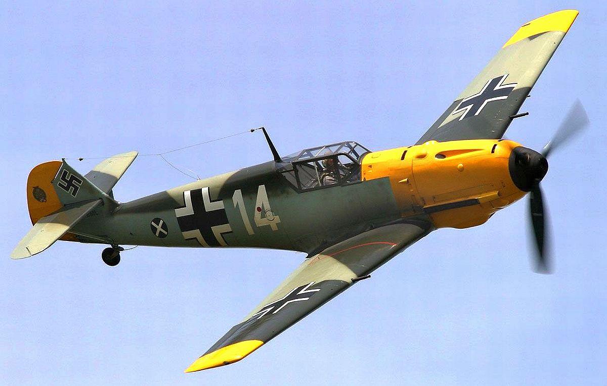 Немецкий истребитель Мессершмитт-109Е Эмиль
