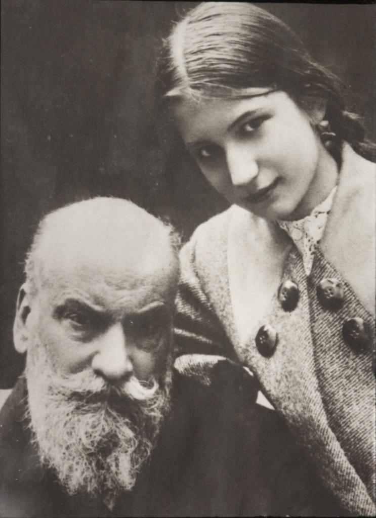 Николай Егорович Жуковский с дочерью Еленой