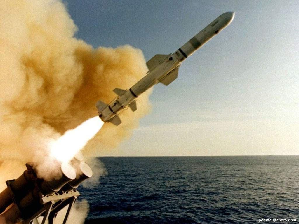 Американская крылатая ракета Томагавк Запуск с корабельной установки