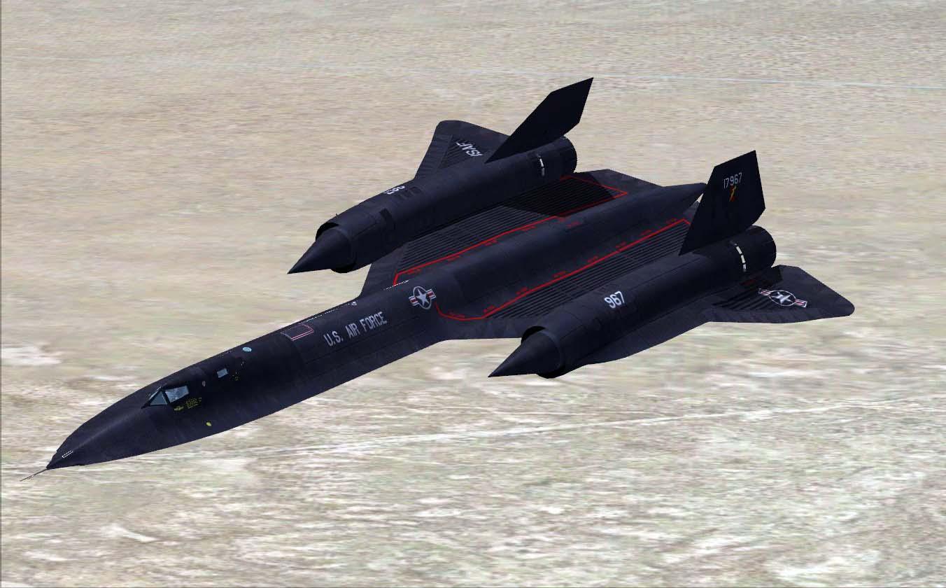 Американский стратегический гиперзвуковой самолёт РАЗВЕДЧИК Lockheed SR-71 Blackbird