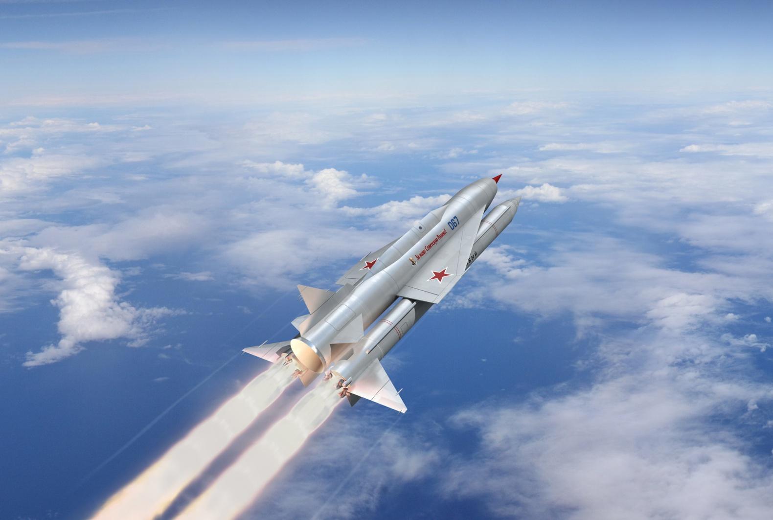 Первая советская КРЫЛАТАЯ ракета Буря в полёте