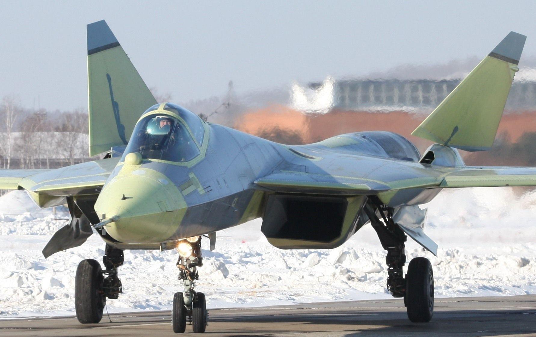 Скачать обои авиация истребитель российский многоцелевой пак фа т-50 sukhoi пятого поколения aviation fighter russian