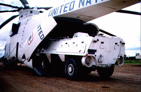 Самый большой в мире СЕРИЙНЫЙ транспортный вертолёт Mи-26 при выполнении миротворческой миссии ООН