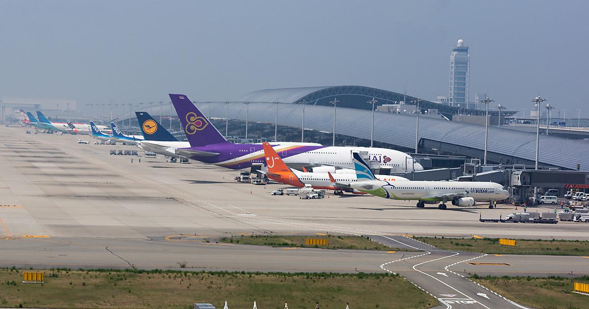 Аэропорт города Осака-Кансай в Японии (Kansai International Airport)