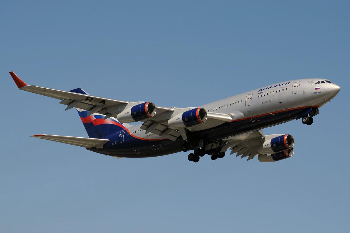 Ил-96-300 на посадке