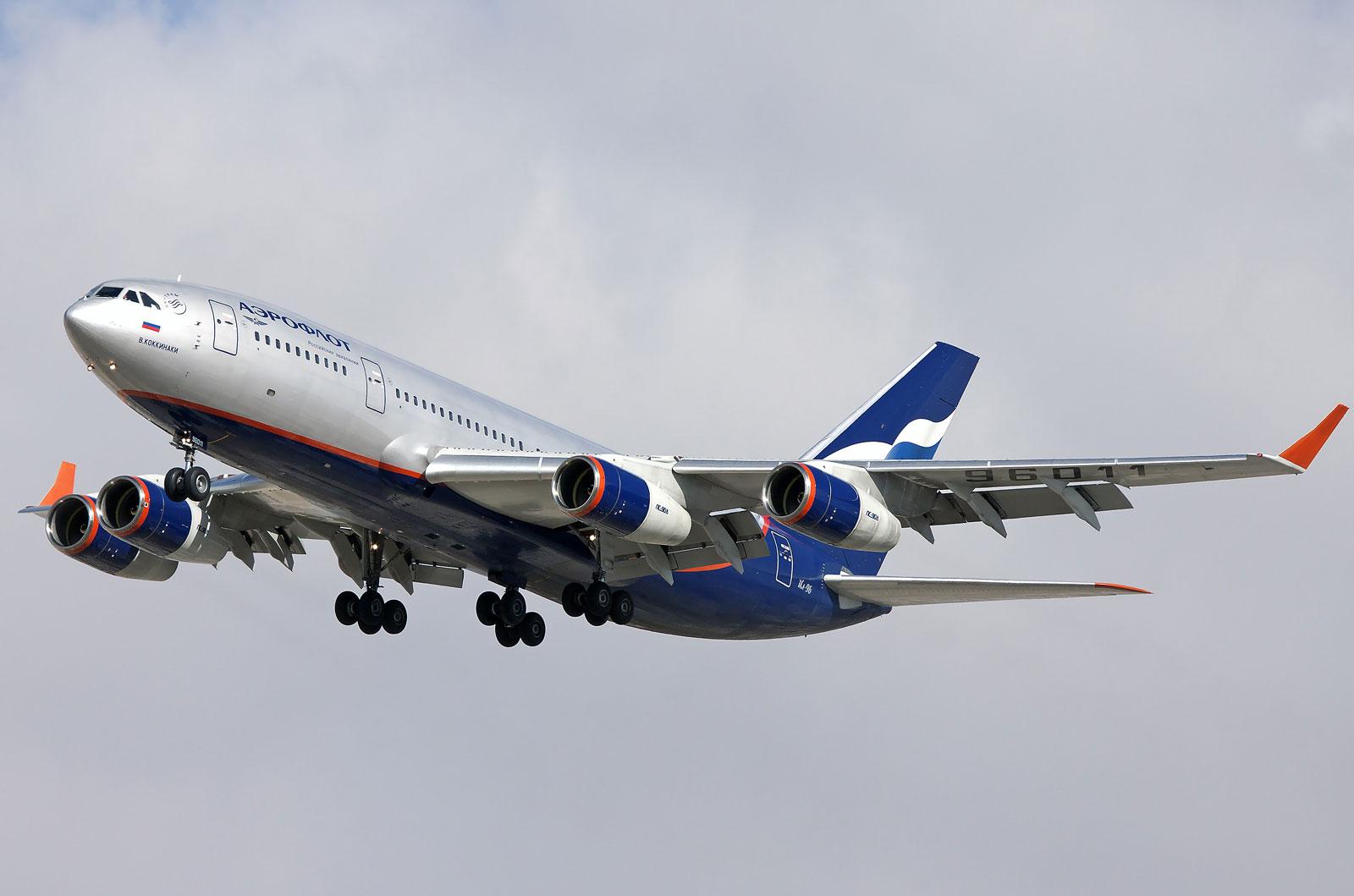 Ил-96-300 во время посадки