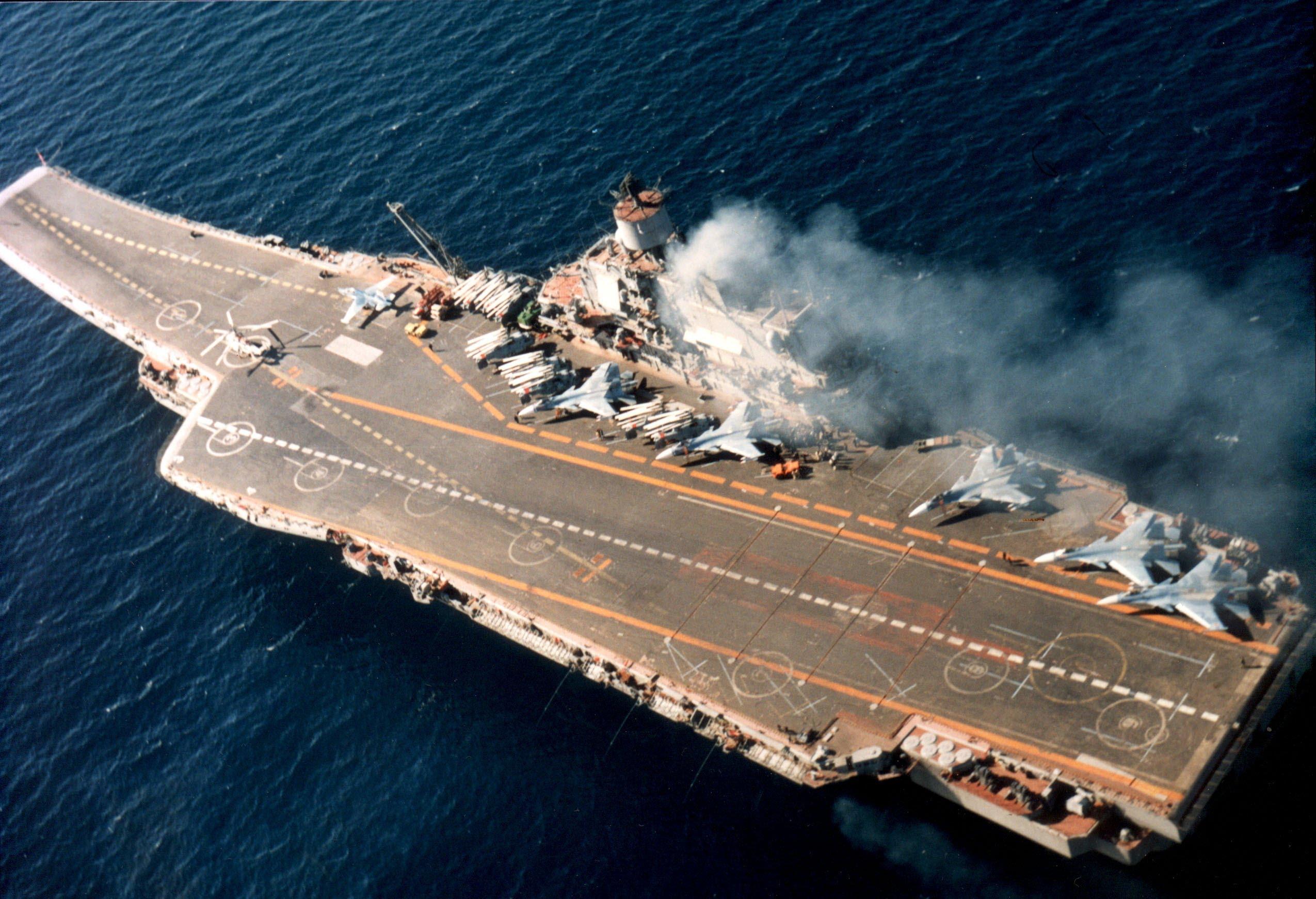 Авианосец адмирал Кузнецов Вид сверху