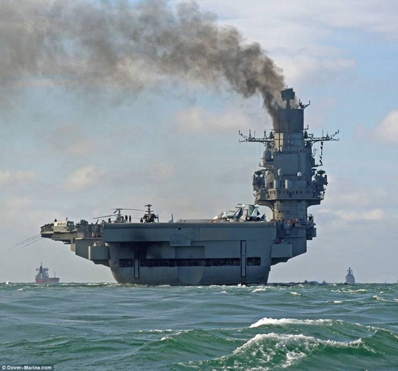 Авианосец адмирал Кузнецов Вид сзади