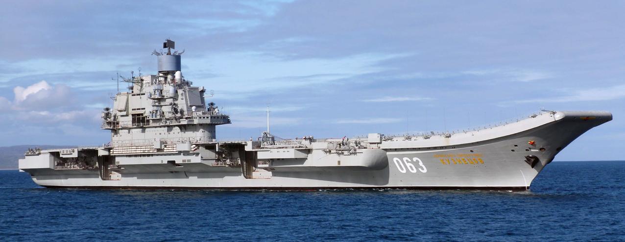 Авианосец адмирал Кузнецов в море