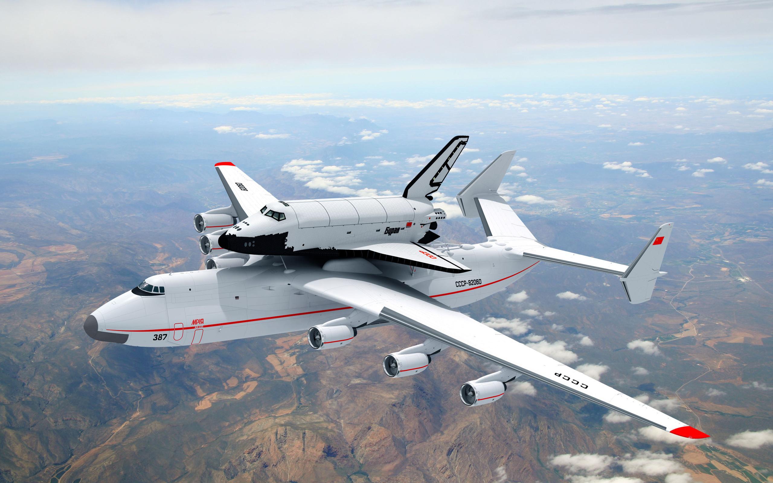 Ан-225 Мрия с космическим кораблем Буран