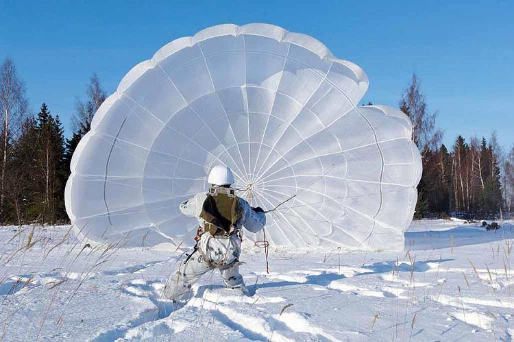 Прыжки с парашютом Гашение парашюта после приземления