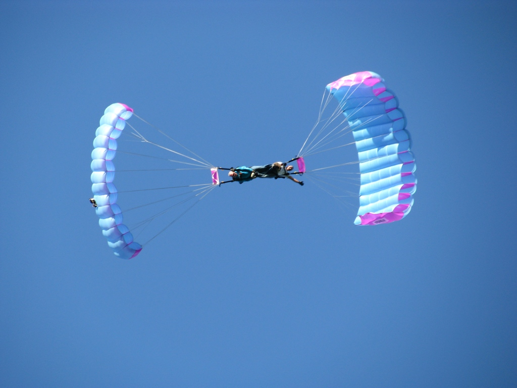Прыжки с парашютом Парашюты-лесник Сцепка