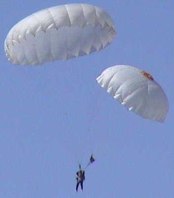 Прыжки с парашютом Раскрылся запасной