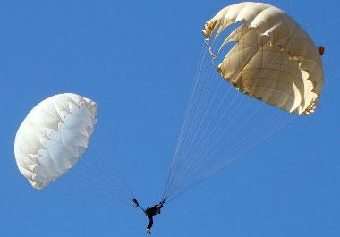 Прыжки с парашютом Запасной раскрылся и прошёл между ног