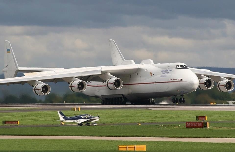 Ан-225 Мрия Посадка