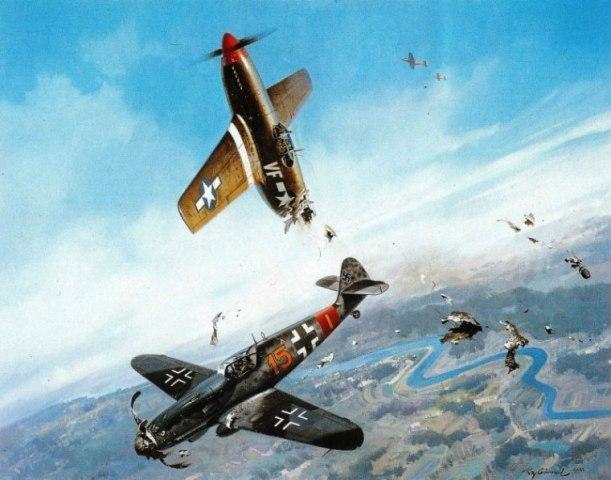Воздушный таран немецким пилотом