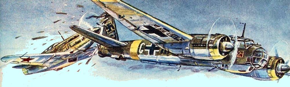 Воздушный таран немецкого бомбардировщика Ю-88
