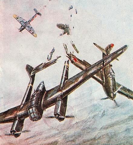Воздушный таран немецкого самолёта-разведчика