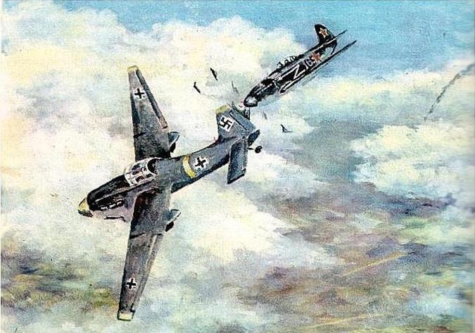 Воздушный таран немецкого штурмовика Ю-87