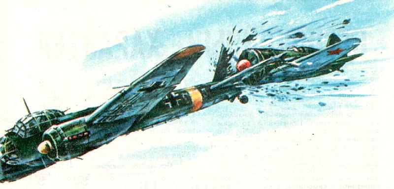 Воздушный таран советским пилотом