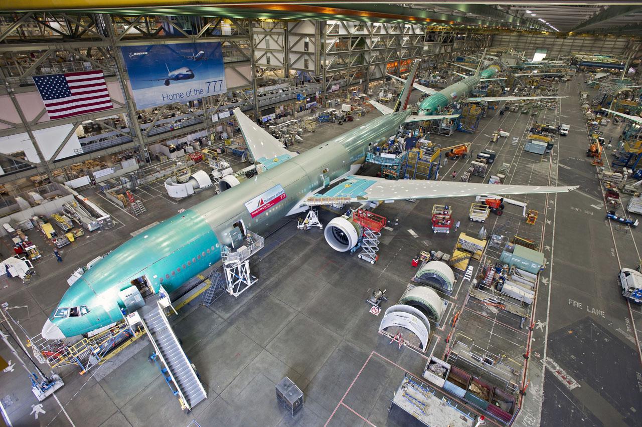 Завод Боинг Линия сборки Боинга-777