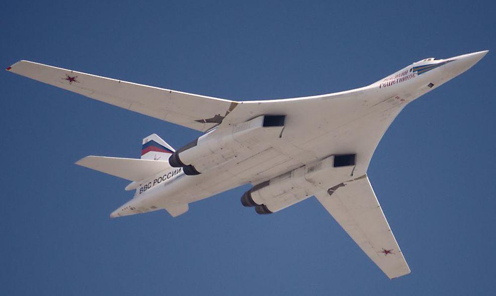 Ту-160 Момент увеличения стреловидности крыла