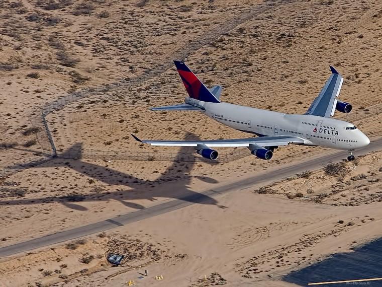 Боинг 747 Авиакомпания Дельта Посадка