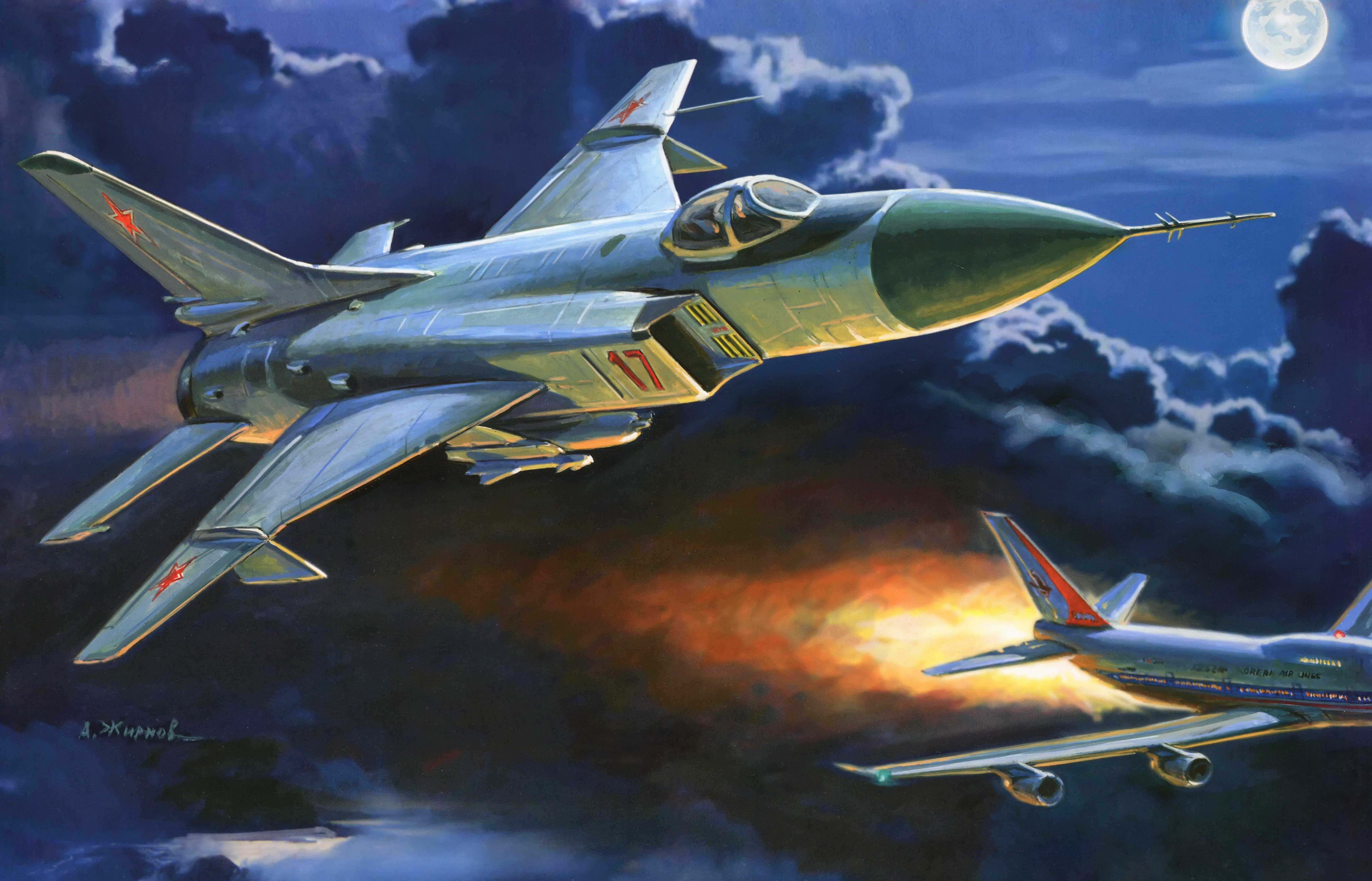 Советский истребитель Су-15 Сбил Корейский Боинг в 1983-м году