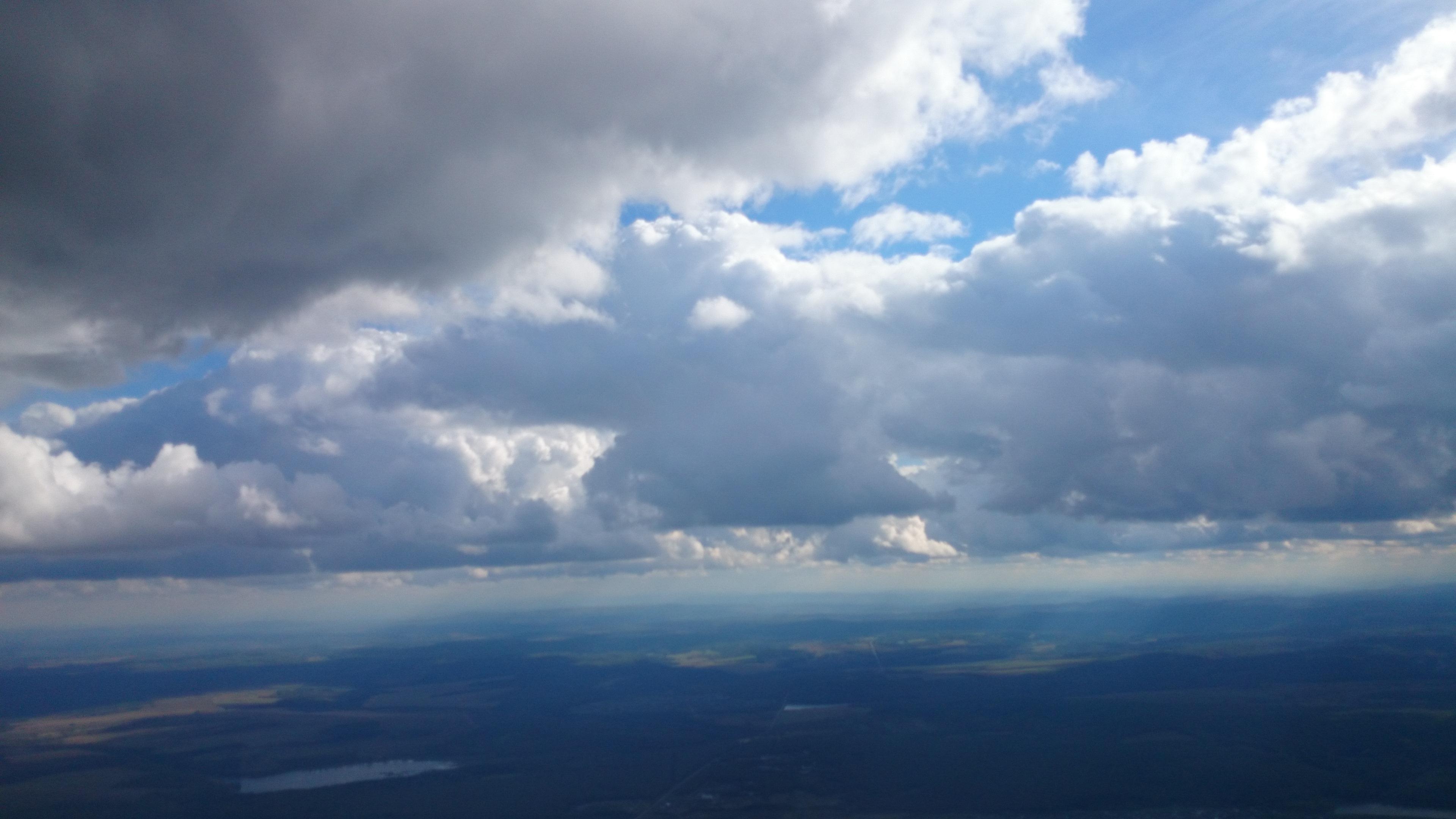 Красноярск Аэродром ДОСААФ Манский Пейзаж снятый при прыжке с парашютом. 6.09.2015 года