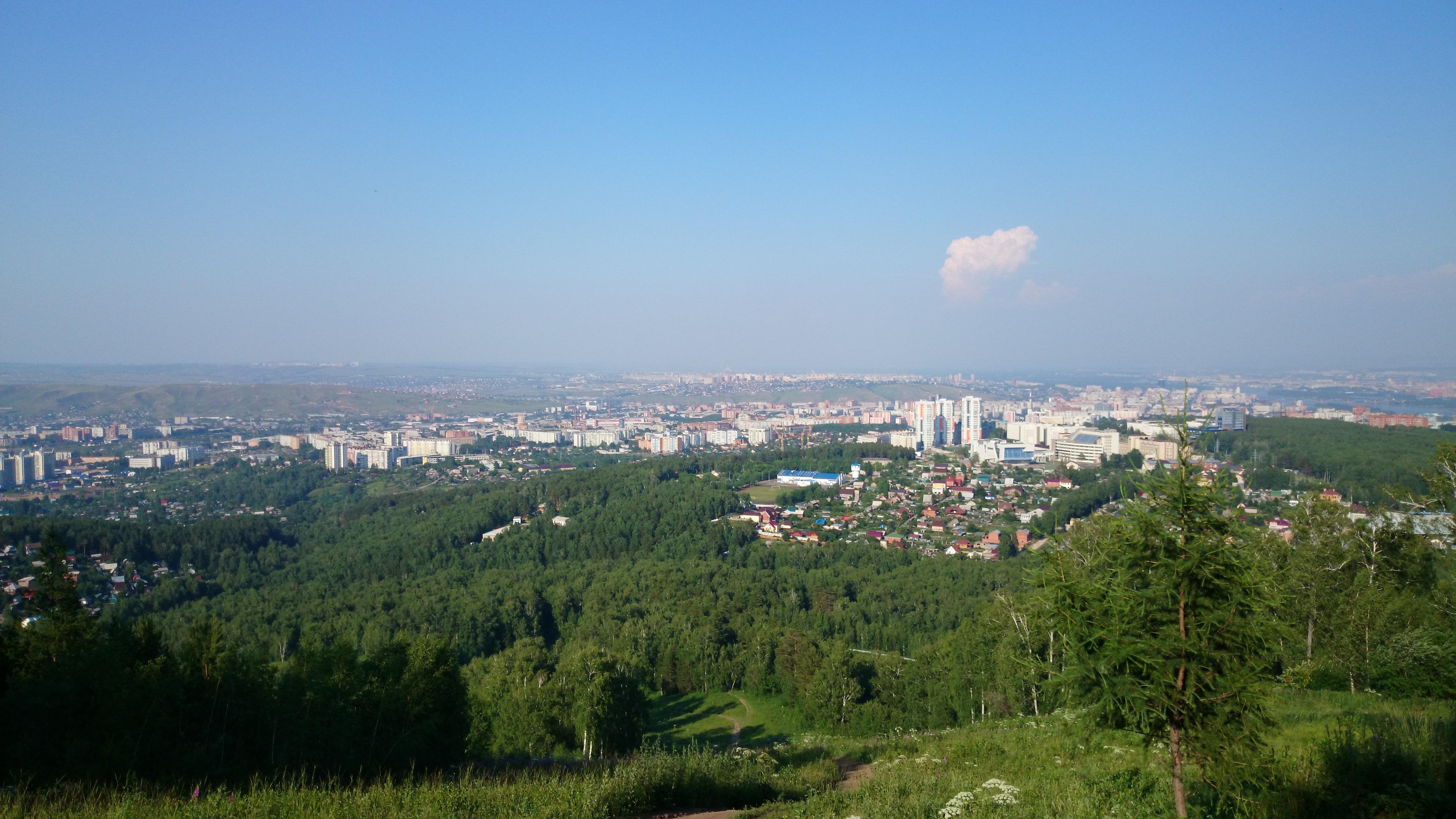 Красноярск Вид с Николаевской сопки. 7.07.2014 года