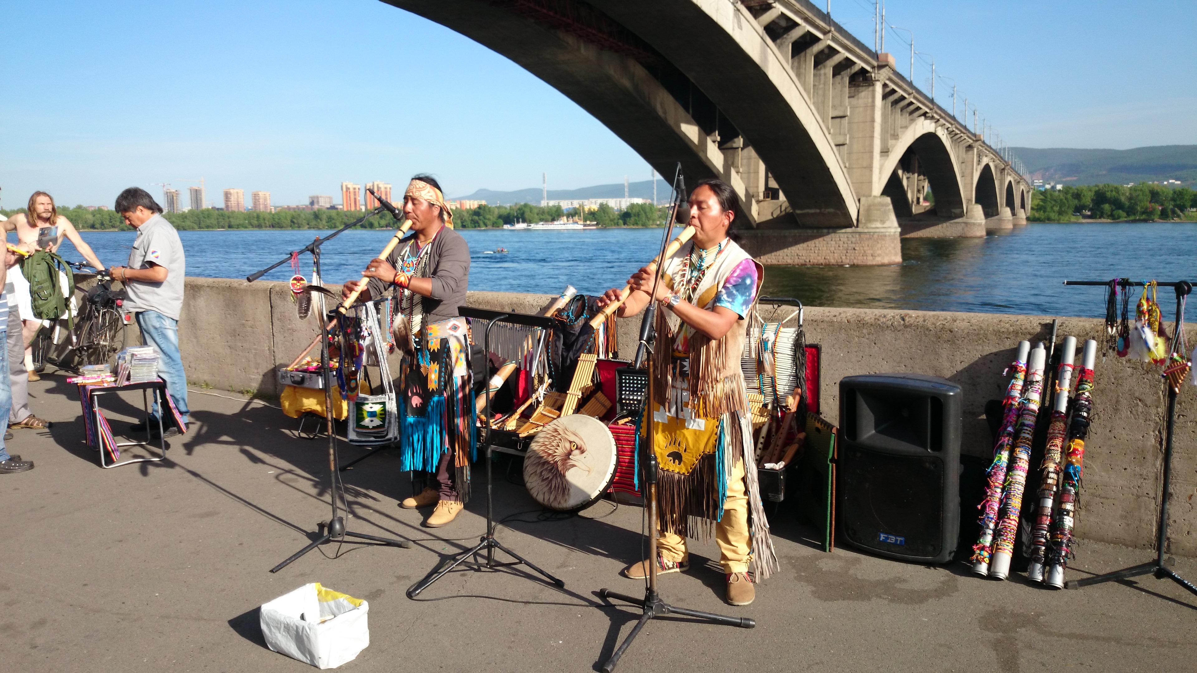 Красноярск Южноамериканские музыканты. 13.06.2015 года