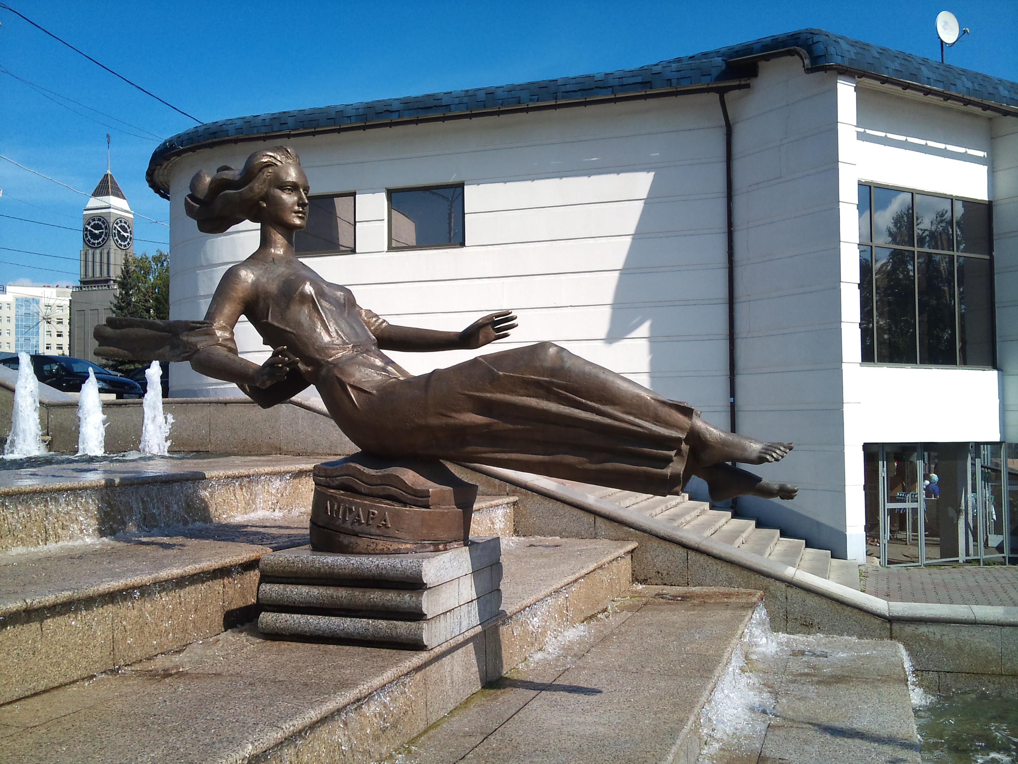 Красноярск фонтан Театральный. 24.08.2012 года
