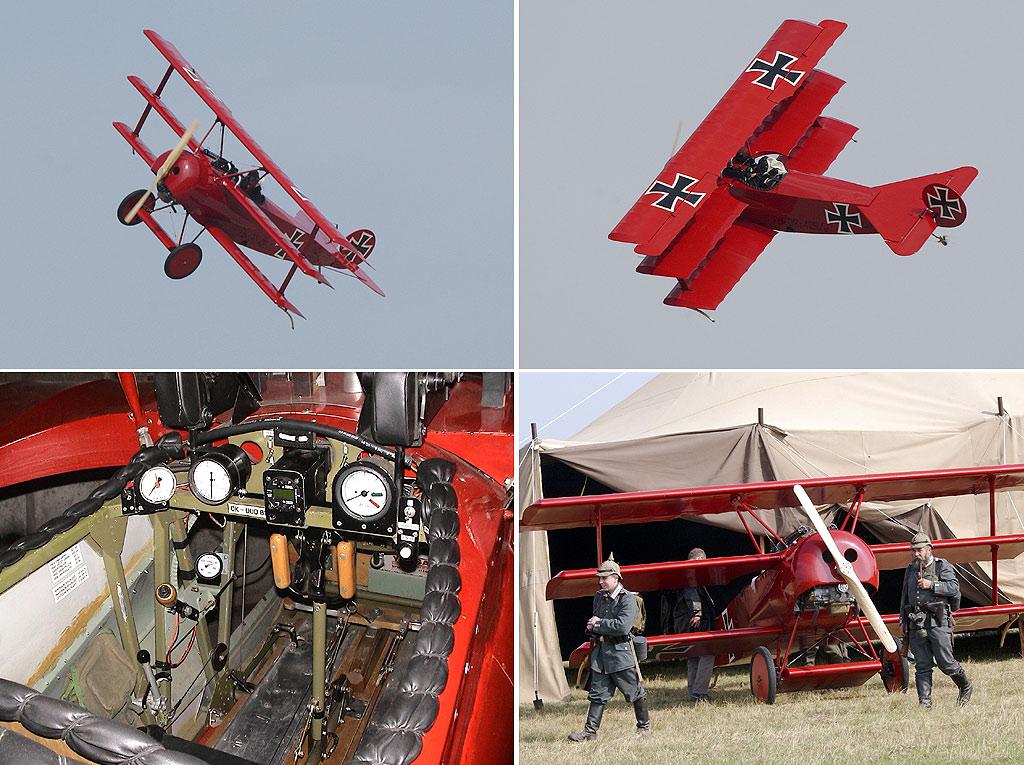 Манфред фон Рихтгофен летал на таком самолёте триплане истребителе Фоккере П1 именно в такой кабине