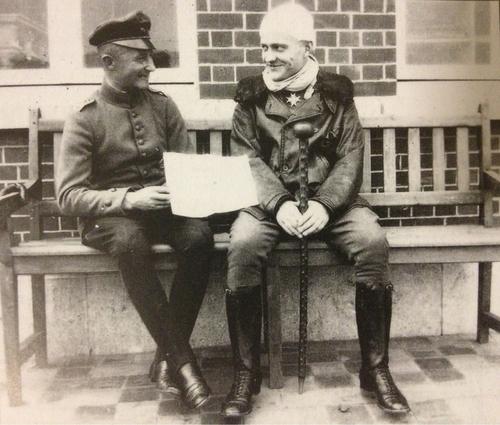 Манфред фон Рихтгофен после ранения