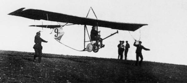 Первый летательный аппарат Сергея Владимировича Ильюшина Планер с кувалдой в носу