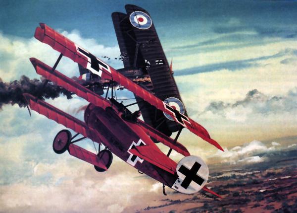 Воздушный бой Первой Мировой войны Истребители