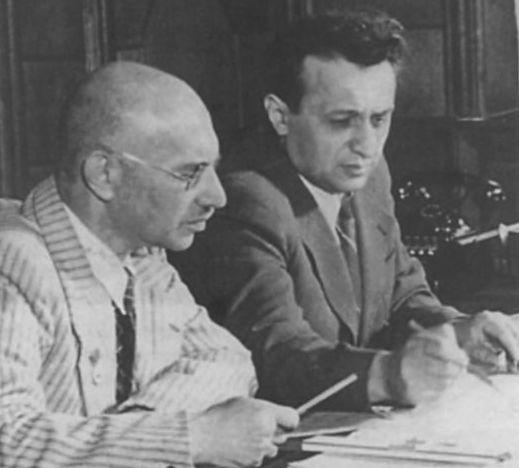 Микоян и Гуревич за работой