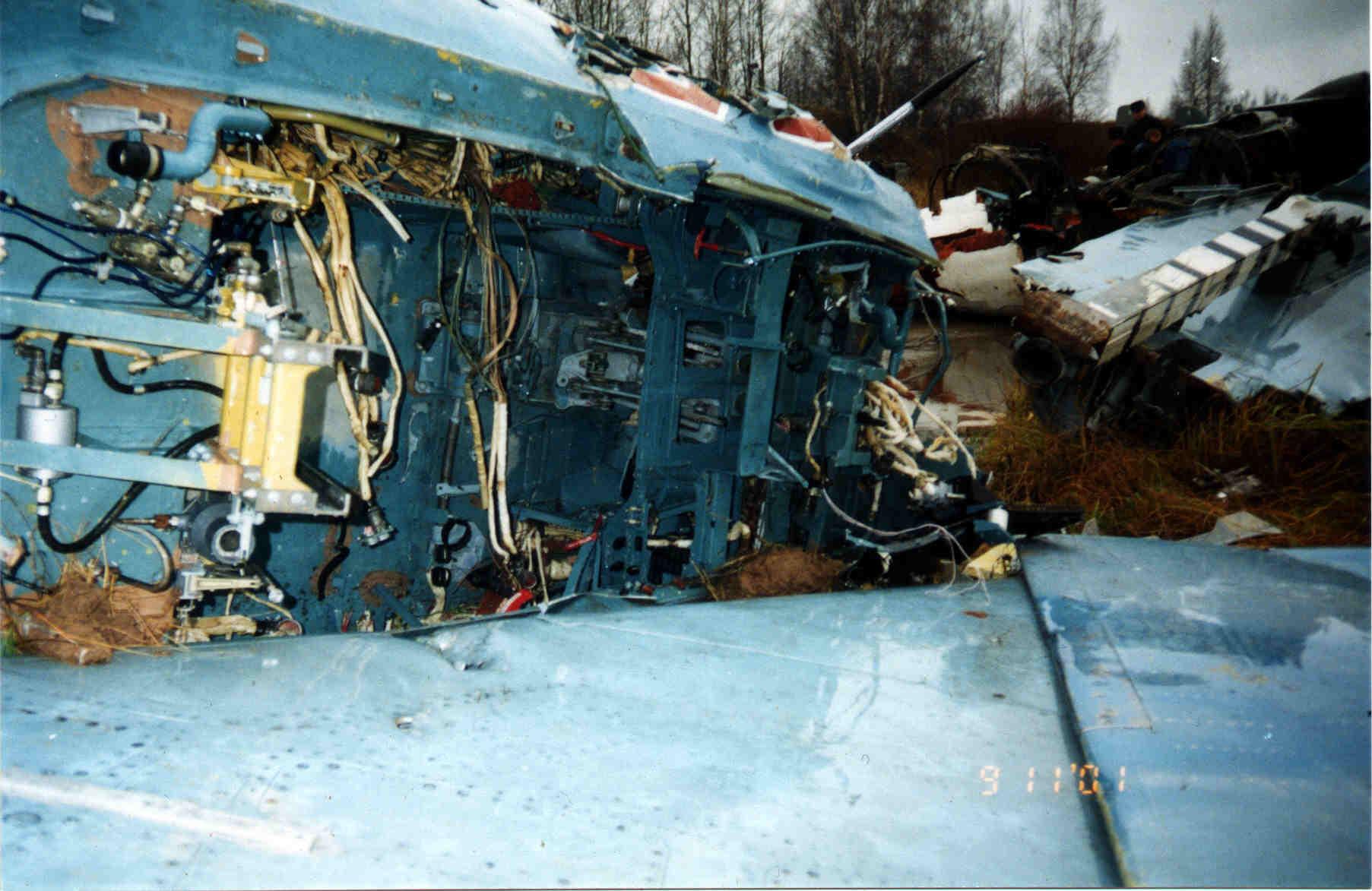 Обломки самолёта Тимура Автандиловича Апакидзе пос ле катастрофы