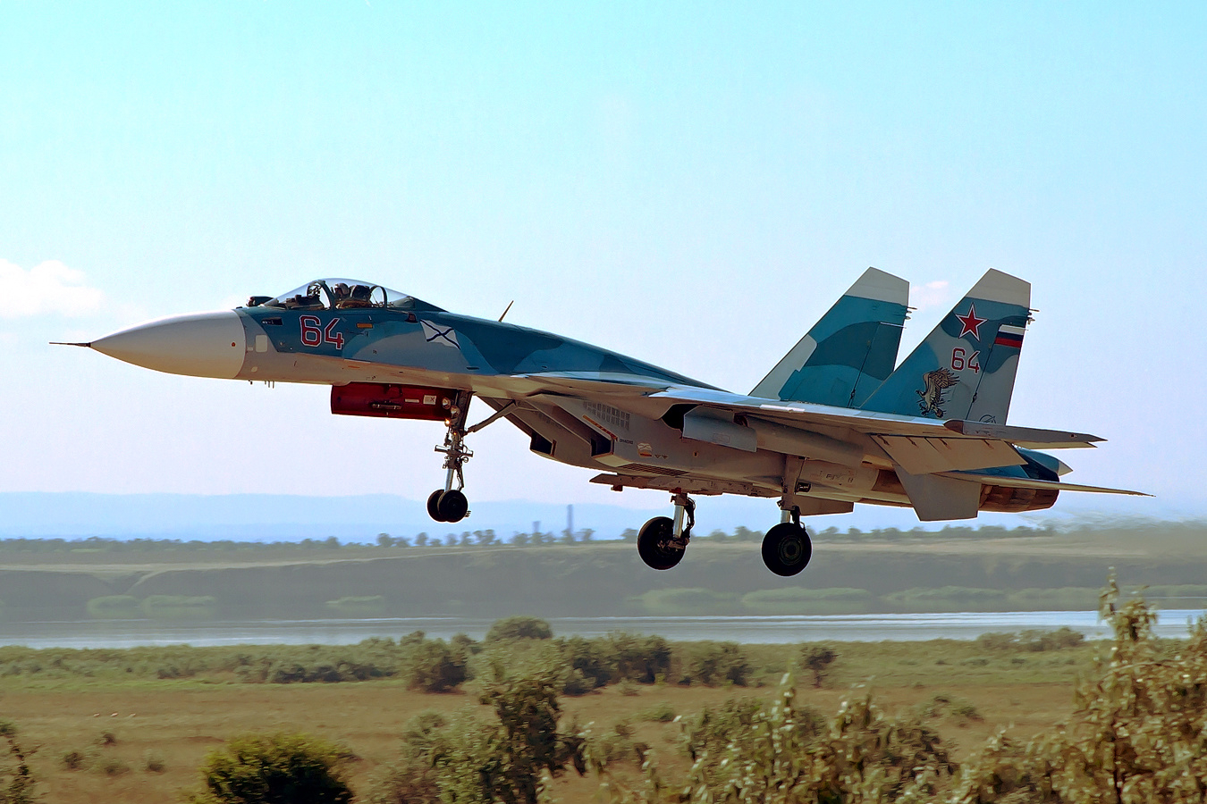 Су-33 на посадке